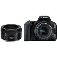 Canon EOS 200D schwarz + 18-55 mm IS STM + 50 mm f/1,8 STM - Digitale Spiegelreflexkamera