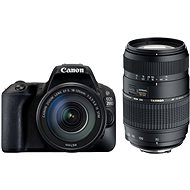 Canon EOS 200D schwarz + 18-55mm DC III + TAMRON 70-300mm - Digitale Spiegelreflexkamera
