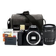 Canon EOS 250D schwarz + EF-S 18-55 mm f/4-5.6 IS STM + LP-E17 + Canon Starter Kit 58 mm - 32 GB - Digitalkamera