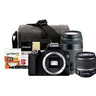 Canon EOS 250D schwarz + EF-S 18-55 mm f/3.5-5.6 DC III + EF 75-300 mm f/4-5.6 III + Canon Starter K - Digitalkamera