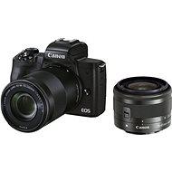 Canon EOS M50 Mark II schwarz + EF-M 15-45 mm IS STM + EF-M 55-200 mm - Digitalkamera