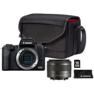 Canon EOS M50 Mark II schwarz + EF-M 15-45 mm IS STM Value Up Kit - Digitalkamera