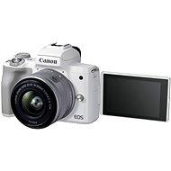 Canon EOS M50 Mark II weiß + EF-M 15-45 mm IS STM - Digitalkamera