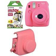 Fujifilm Instax Mini 9 pink rot + 20x Film + Hülle + Rahmen