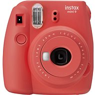Fujifilm Instax Mini 9 rot + 20x Fotopapier + Etui + Rahmen - Sofortbildkamera