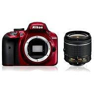 Nikon D3400 Rot + 18-55mm AF-P VR - Digitale Spiegelreflexkamera