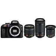 Nikon D3400 Schwarz + 18-55mm VR + 70-300mm VR + 10-20mm VR - Digitale Spiegelreflexkamera
