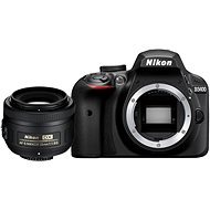 Nikon D3400 schwarz + Objektiv 35 mm DX - Digitale Spiegelreflexkamera