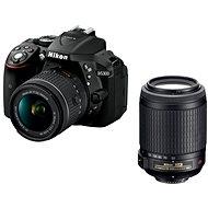 Nikon D5300 schwarz + 18-55 mm VR AF-P + P 55-200 mm AF-VR II - Digitale Spiegelreflexkamera