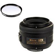 NIKKOR 35mm f/1.8 AF-S DX + UV Filter Hama 0-HAZE - Objektiv