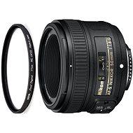 NIKKOR 50mm f/1.8G AF-S + UV Filter HOYA 58mm PRO 1D DHMC - Objektiv