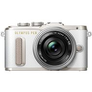 Olympus PEN E-PL8 weiß + Pancake Objektiv ED 14-42EZ silber - Digitalkamera