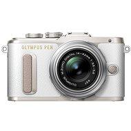 Olympus PEN E-PL8 weiß + Objektiv ED 14-42 II R silbern - Digitalkamera