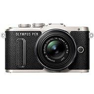 Olympus PEN E-PL8 schwarz + ED 14-42 II R schwarze Linse - Digitalkamera