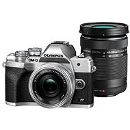 Olympus OM-D E-M10 Mark IV + 14-42 mm EZ + 40-150 mm R Silber - Digitalkamera