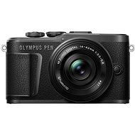 Olympus PEN E-PL10 - schwarz + Pancake Zoom Kit 14-42 mm schwarz - Digitalkamera