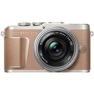 Olympus PEN E-PL10 - braun + Pancake Zoom Kit 14-42 mm silber - Digitalkamera