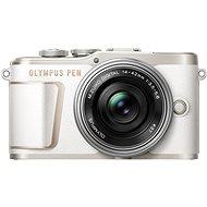 Olympus PEN E-PL10 - weiß + Pancake Zoom Kit 14-42 mm silber - Digitalkamera