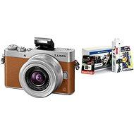 Panasonic LUMIX DMC-GX800 Braun + 12-32mm Objektiv + Alza Foto Starter Kit 32GB - Digitalkamera