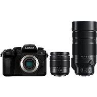 Panasonic LUMIX DC-G90 + Lumix G Vario 12-60mm schwarz + Panasonic Leica DG Vario-Elmar 100-400mm - Digitalkamera