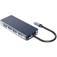 USB Hub Orico USB-C Hub 8in1 - transparent - SD/TF Lesegerät - Power Delievery - Ethernet
