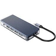 USB Hub Orico USB-C Hub 11in1 - transparent - SD/TF Lesegerät - Power Delievery - Ethernet - VGA - Audio