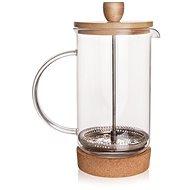Kaffeebereiter CORK aus Glas/Edelstahl/Bambus - 0,4 Liter - French press