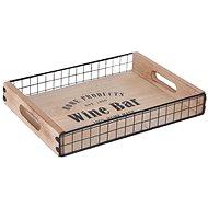 ORION Tablett aus Holz/Metall - klein - 34 cm x 24,5 cm - Tablett