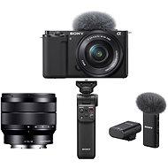 Sony Alpha ZV-E10 + 16-50 mm f/3.5-5.6 + 10-18 mm f/4.0 + Handgriff GP-VPT2BT + Mikrofon ECM-W2BT - Digitalkamera