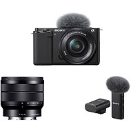 Sony Alpha ZV-E10 + 16-50 mm f/3.5-5.6 + 10-18 mm f/4.0 + Mikrofon ECM-W2BT - Digitalkamera