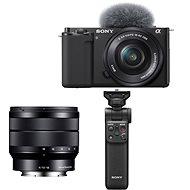 Sony Alpha ZV-E10 + 16-50 mm f/3.5-5.6 + 10-18 mm f/4.0 + Grip GP-VPT2BT - Digitalkamera