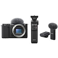 Sony Alpha ZV-E10 Gehäuse + Grip GP-VPT2BT + Mikrofon ECM-W2BT - Digitalkamera