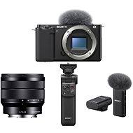 Sony Alpha ZV-E10 Gehäuse + 10-18 mm f/4.0 + Grip GP-VPT2BT + Mikrofon ECM-W2BT - Digitalkamera