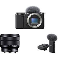Sony Alpha ZV-E10 Gehäuse + 10-18 mm f/4.0 + ECM-W2BT Mikrofon - Digitalkamera