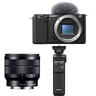 Sony Alpha ZV-E10 Gehäuse + 10-18 mm f/4.0 + Grip GP-VPT2BT - Digitalkamera