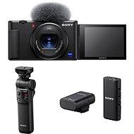 Sony ZV-1 + Grip GP-VPT2BT + Mikrofon ECM-W2BT - Digitalkamera