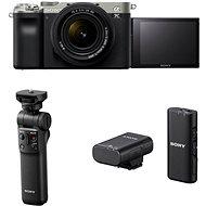 Sony Alpha A7C + FE 28-60mm silber + Handgriff GP-VPT2BT + Mikrofon ECM-W2BT - Digitalkamera