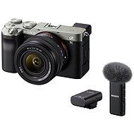 Sony Alpha A7C + FE 28-60mm silber + Mikrofon ECM-W2BT - Digitalkamera