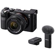 Sony Alpha A7C+ FE 28-60mm schwarz + Mikrofon ECM-W2BT - Digitalkamera