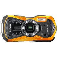 RICOH WG-50 Orange + Schwimmschlinge + Neoprentasche - Digitalkamera