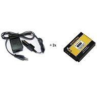 PATONA Kit für GoPro HERO 3/3 + AHDBT-201 Ladegerät + 2x 1180mAh Batterien - Akku-Ladegerät