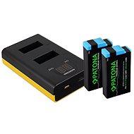 PATONA Set für Dual GoPro MAX mit LCD + 2x für 1400mAh Premium - Ladegerät