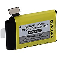 PATONA Batterie für Apple Watch 3 GPS 262 mAh A1847 38 mm - Smartwatch-Batterie