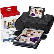 Canon SELPHY CP1300 - Schwarz, mit Canon Fotopapier KP-36 - Sublimationsdrucker