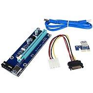 ANPIX ver009s Reduktion (MOLEX-Version) PCIe x1 zu PCIe x16 - Adapter