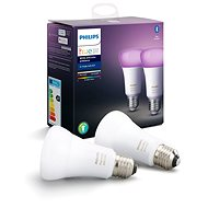 Philips Hue Weiß und Farbe Ambiente 9W E27 Set 2tlg - LED-Birne