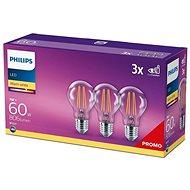 Philips LED classic 7-60 W, E27 2700K, 3-tlg - LED-Lampe