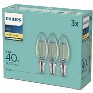 Philips LED classic 4,3-40 W, E14 2700K, 3-tlg - LED-Lampe