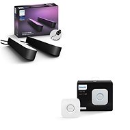 Philips Hue White and Color Ambiance Play Double Pack 78202/30/P7 + Philips Hue Bridge 2.0, Apple Ho - Smart Lighting-Set
