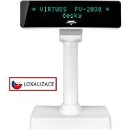 Virtuos VFD FV-2030W 2x20 9mm weiss - Kundendisplay